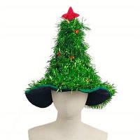 Новинка Рождественская елка Hat с гирляндой и золотой звездой