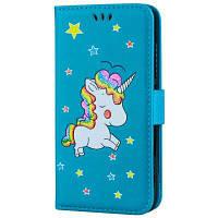 Flash Powder Unicorn Premium PU кожаный чехол для телефона Xiaomi Redmi Примечание 4 Синий