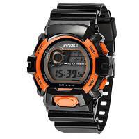 SYNOKE 67556 спортивные модные электронные часы для мужчин Оранжевый