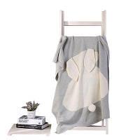 Трехмерное трехмерное трикотажное одеяло из кролика для детей 80см x 100см
