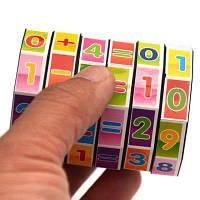 Мультфильм Дети Раннее образование Игрушечный номер Цилиндрический кубик Рубика Разноцветный