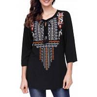Женская Блузка С Вышивкой В Национальном Стиле И Кисточкой S