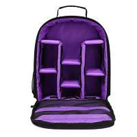 Huwang 8015 Рюкзак большой емкости для фотоаппаратов / объективов Фиолетовый