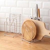 Многофункциональная стойка для хранения кухонной мебели из нержавеющей стали Серебристый