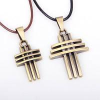 Антикварное геометрическое любовное крестикое ожерелье из ожерелья 2 шт / лот