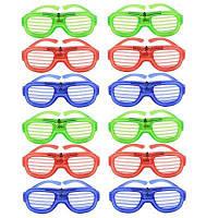 Светодиодный свет вверх игрушка очки 12шт Цветной