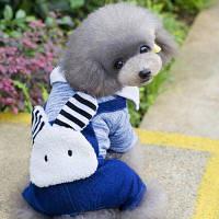 Lovoyager B14 Одежда для животных Смазливая одежда для кроликов Джинсы для собак Зимний пудель Чихуахуа Пальто M