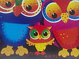Мозаика стразами (алмазами) Совы, детская серия (CRMk-01-10), фото 9