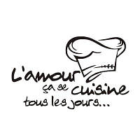 DSU Lamour Cuisine French Vinyl Kitchen Decor Mural Wall Художественная плитка Цитата Wall Sticker Чёрный