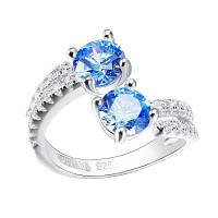VEECANS Boutique SIGNITY Gems 925 Посеребренное платиновое кольцо Синий