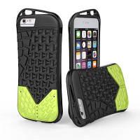 Спортивный чехол для спортивной обуви для iPhone 8 Plus желтый+зеленый