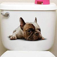 3Д туалет стикер теплая стена искусство животное 20*30cm