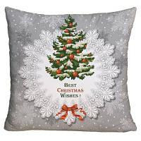 Рождественская елка Печать Площадь Декоративные Подушка Подушка W18 дюймов * L18 дюймов