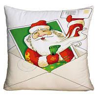 Санта-Клаус Творческая конверт Печать Рождественская площадь Подушка W18 дюймов * L18 дюймов