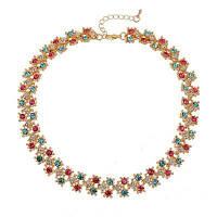 Новое элегантное бриллиантовое короткое ожерелье Золотой