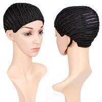 Плетеный парик-палочка Вязание крючком с тремя комками для изготовления париков Регулируемый средний размер Естественный черный 4 дюйма