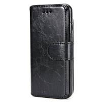 2 в 1 Split Stone Pattern PU кожаный чехол для iPhone 7/8 Чёрный