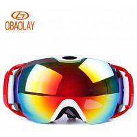 OBAOLAY H012 Unisx Panoramic Double Deck Anti Fog Ski Goggle Красный