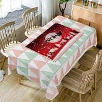 Рождественская лунная деревня Печать Водонепроницаемая ткань ширина54дюйма*длина54дюйма