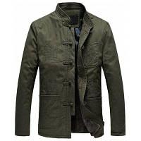 Зима Теплая Куртка С Китайской Вышивкой 2XL