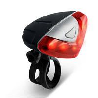 Яркая водонепроницаемая задняя Led фара безопасности с легкой установкой для горного велосипеда Красный с чёрным