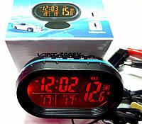 Автомобильные часы- термометр с вольтметром VST 7009V
