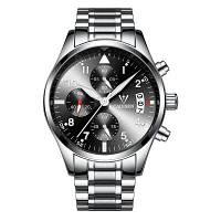 2017 Лучшие мужские часы CADISEN Fashion Business Luxury Brand sport Кварцевые часы из нержавеющей стали черный+серебристый