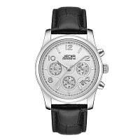 JEDIR 9821 4825 Кварцевые женские часы с модным повседневным циферблатом и функцией календаря и кожаным ремешком и коробкой Чёрный