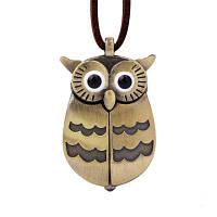 Симпатичные карманные часы совы