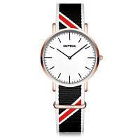 KOPECK Простые нейлоновые браслеты для наручных кварцевых часов для мужчин Чёрный