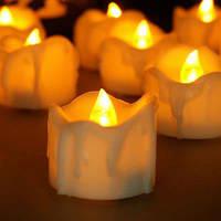 Беспламенное пластичное реалистичное освещение свечи СИД свечки 12PCS Белый