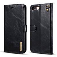 DG.MING Microfiber натуральная кожа 2 в 1 футляр для iPhone 7 Plus / 8 Plus Чёрный