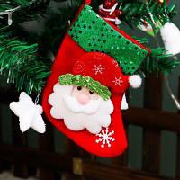 Рождественский чулок с маленьких блесток для украшения рождественской елки детские подарочные сумки конфеты Санта-Клаус стиль