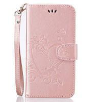 На главную Отказ от ответственности Сердечный цветок Кошелек Кожаный стенд сотовый телефон Обложка с магнитом для iPhone 6S Plus / 6 Plus Розовый