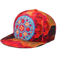 3D печать хип-хоп snapback шляпа Красный