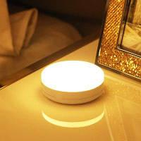 Творческий 360 градусов Корпус датчика Светодиодная лампа Светильник для спальни с USB-зарядкой белый свет