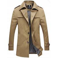 Однобортная Куртка С Отложным Воротником И Погонами 4XL