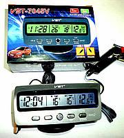 Автомобильные часы- термометр с вольтметром VST 7045V