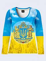 Лонгслив Большой Герб Украины Код:11100