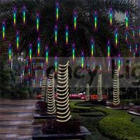 Рождественские Светодиодные Стильные Наружные Декоративные Светильники Метеоритный Дождь Разноцветный