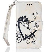 На главную Отказ от ответственности Сердечный цветок Кошелек Кожаный поднос сотовый телефон Обложка с магнитом для Samsung Galaxy J3 2016 Белый