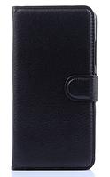 Кожаный чехол-книжка для Lenovo S90 черный