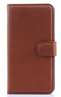 Кожаный чехол-книжка для Lenovo S90 коричневый