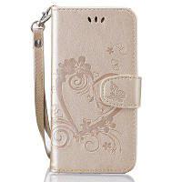 На главную Отказ от ответственности Сердечный цветок Кошелек Кожаный поднос сотовый телефон Обложка с магнитом для Samsung Galaxy J5 2016 Золотой