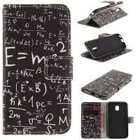 Функциональная формула PU+TPU Кожаный кошелек Дизайн корпуса с подставкой и слотами для карт Магнитное закрытие для Samsung Galaxy J3 2017 J330 EU
