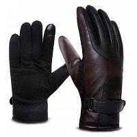 Сенсорный экран Держите теплые ветрозащитные перчатки для мужчин Кофейный