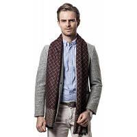 Платье бизнес-плед держит теплый шарф для мужчин Кофейный
