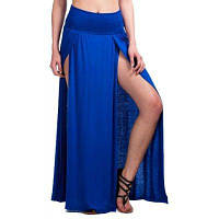 Женская юбка Sexy Split Solid Color Maxi Long Dress S