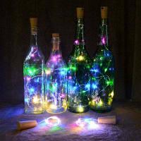 Гирлянда в бутылке вина для украшения свадебного мероприятия фестиваля Разноцветный