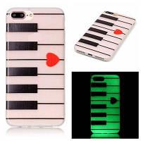 Фортепиано Luminous Ultra Thin Slim Мягкий силиконовый чехол TPU для iPhone 7 Plus / 8 Plus Разноцветный
